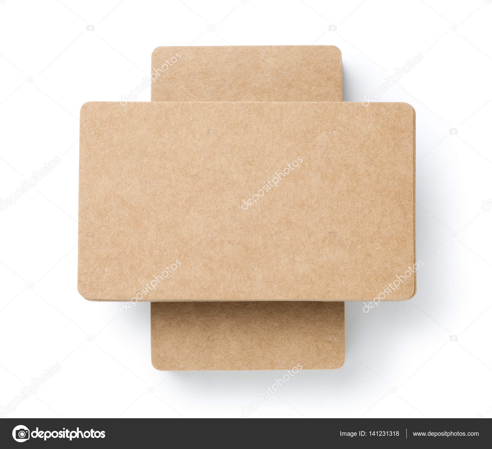 blank brown business cards — Stock Photo © koosen #141231318