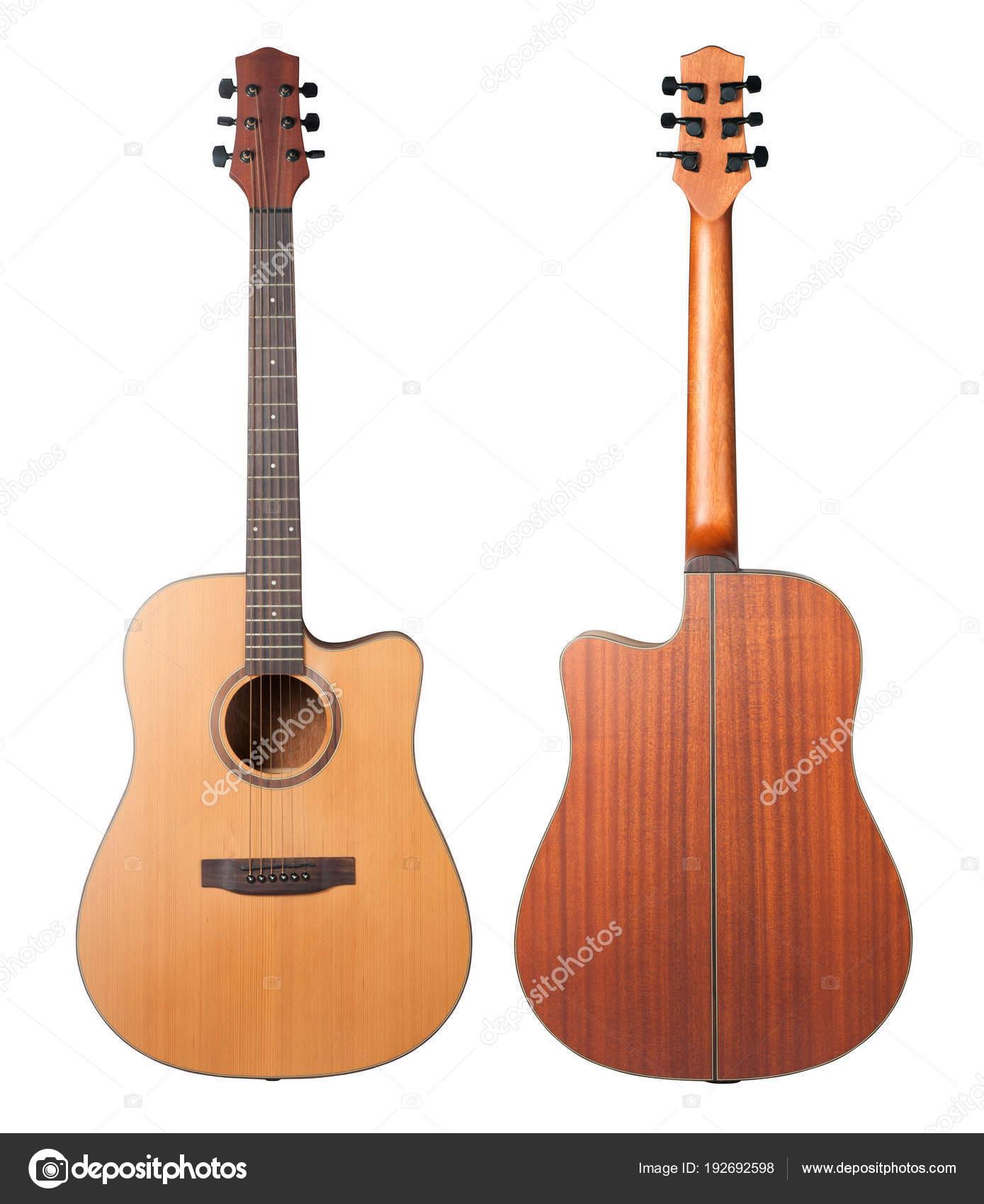 Acoustic Guitar Isolated White Background Stock Photo C Koosen
