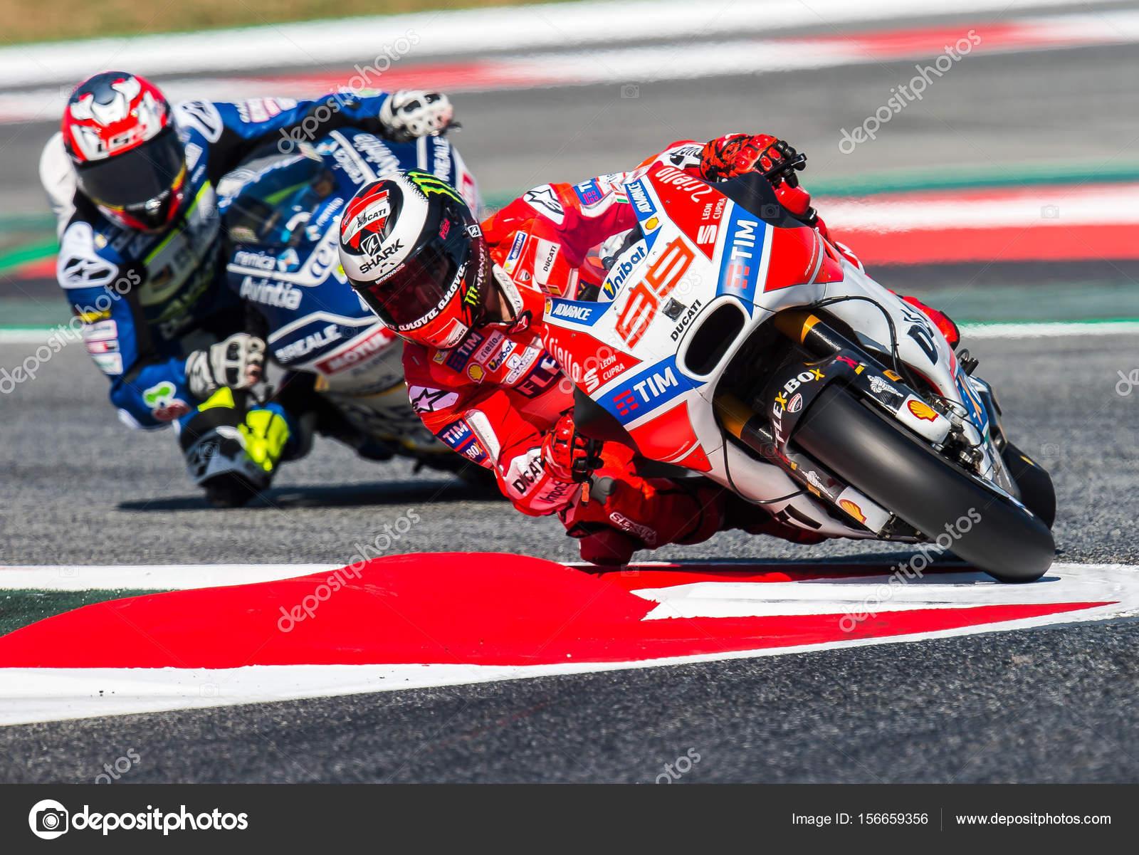 Gp Catalunya Moto Gp Jorge Lorenzo Team Ducati Stock Editorial