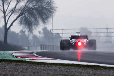 BARCELONA, SPAIN - MARCH 1, 2018: Williams during Formula One Test Days at Circuit of Barcelona Catalunya.