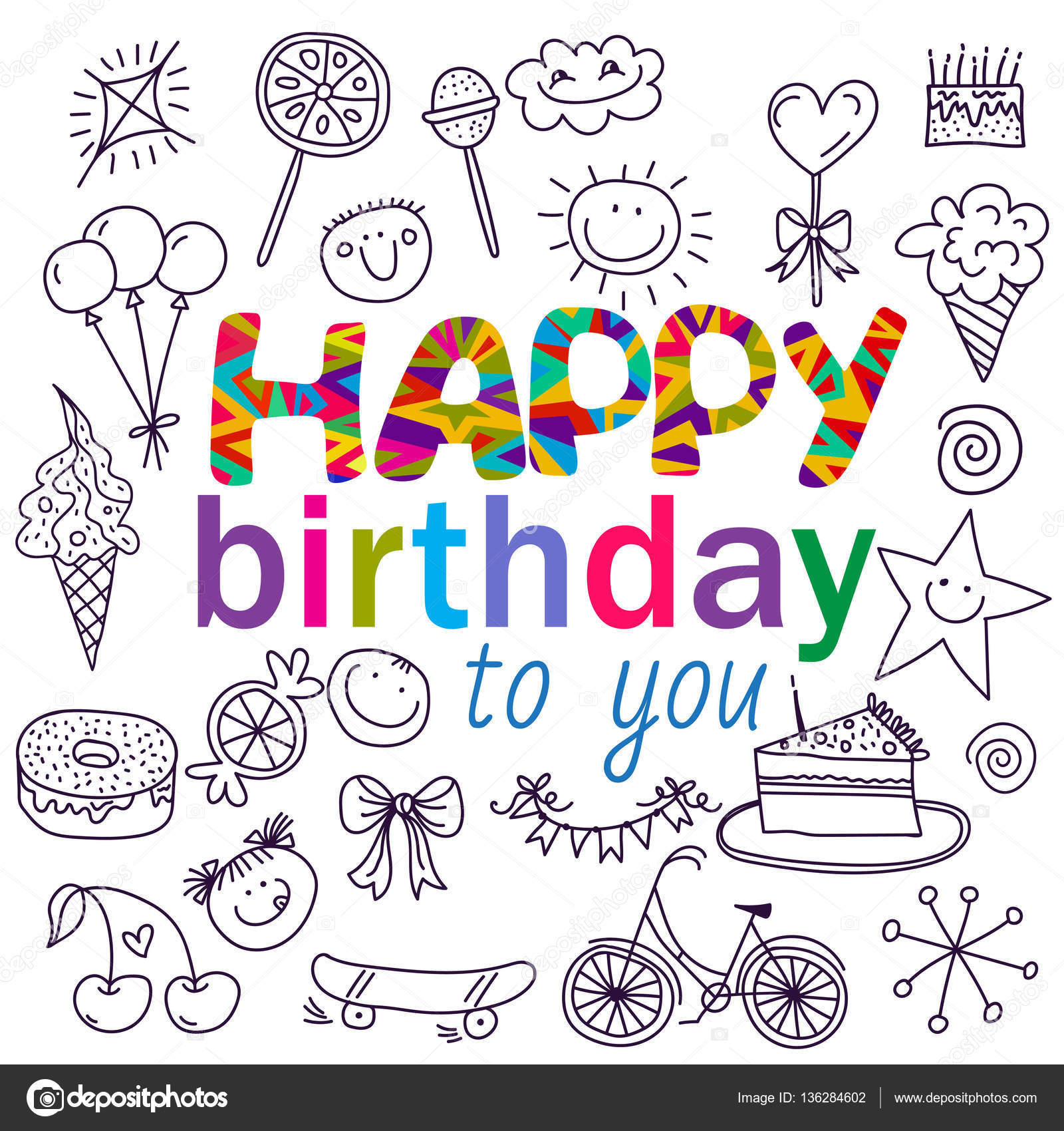 Plakat für die Geburtstagsgrüße — Stockvektor © color885 #136284602