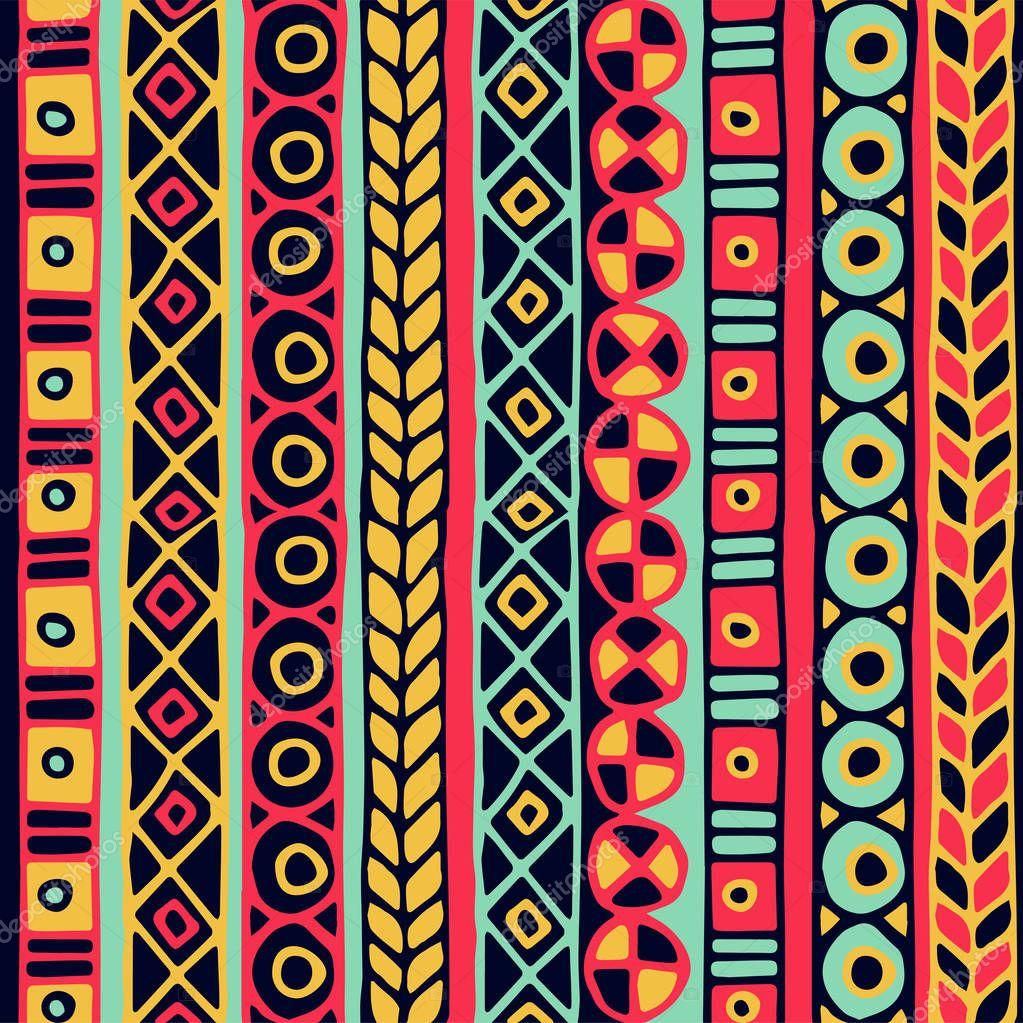 Modello senza cuciture di etnia boho style carta da for Carta da parati etnica