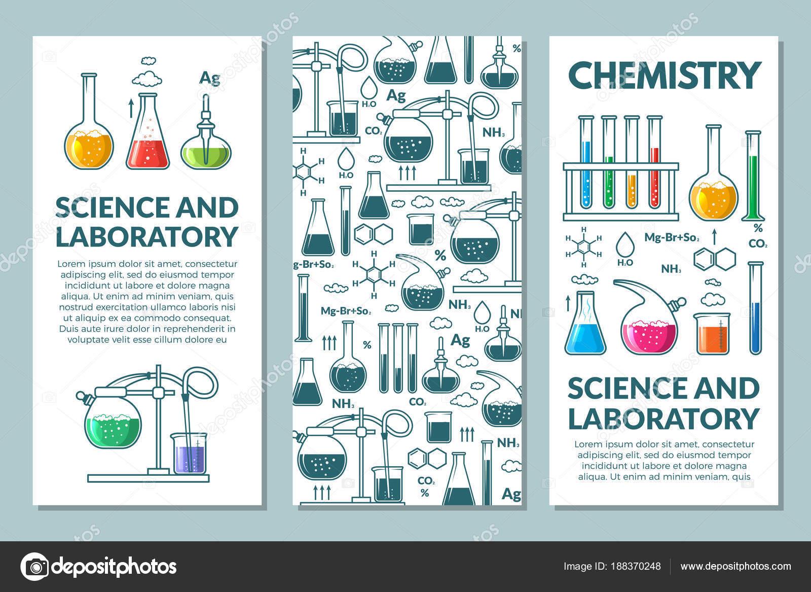Science information cards set