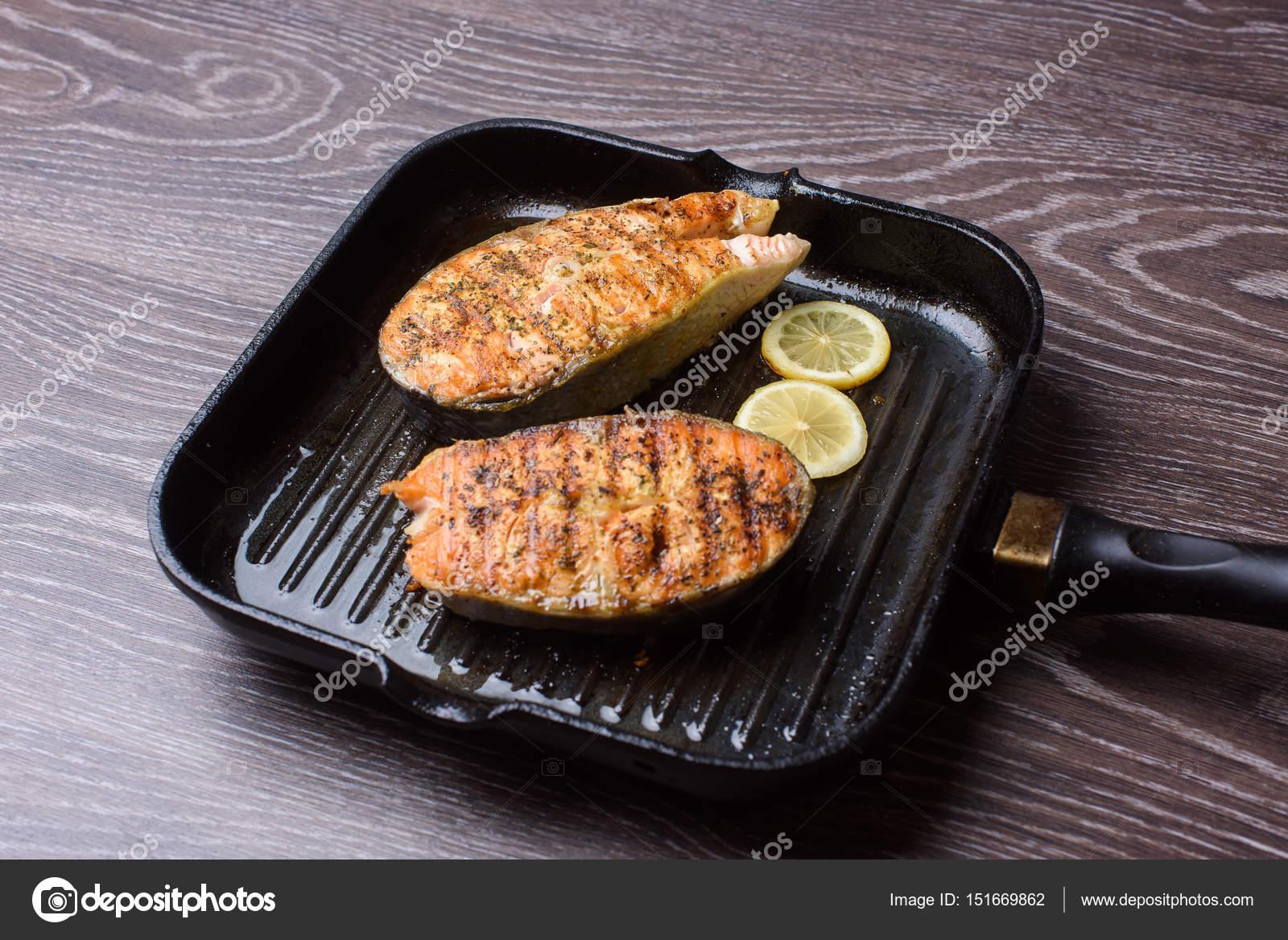 grillpan zalm