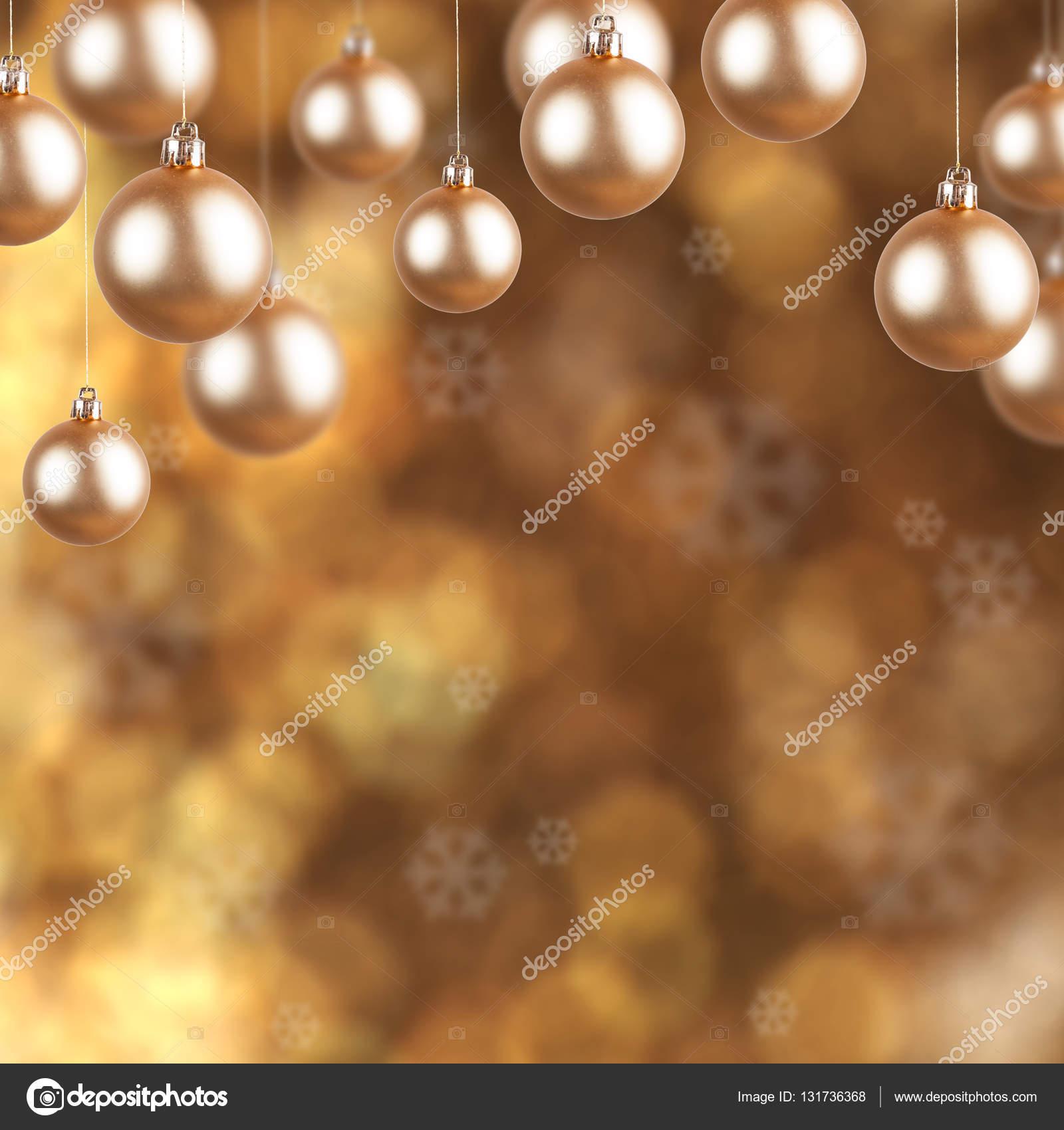 Goldener Christbaumschmuck Auf Weihnachten Hintergrund Stockfoto
