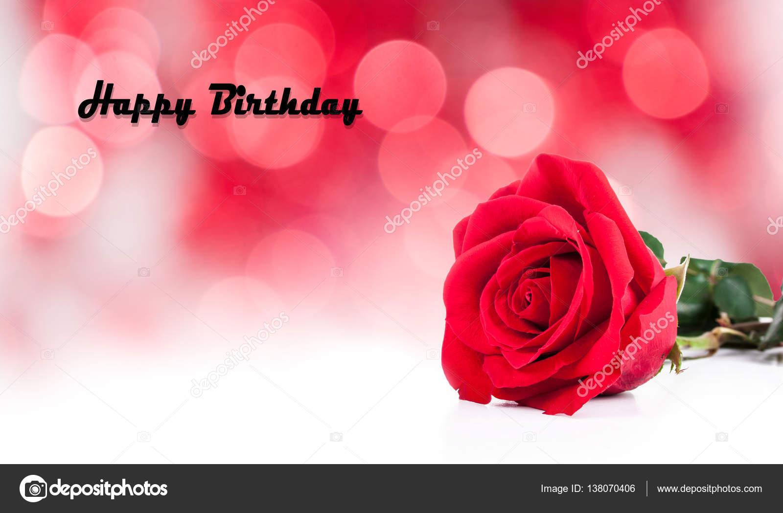 geburtstagskarten mit roten rosen stockfoto ketta 138070406