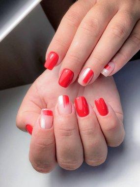 manicure design in a beauty salon