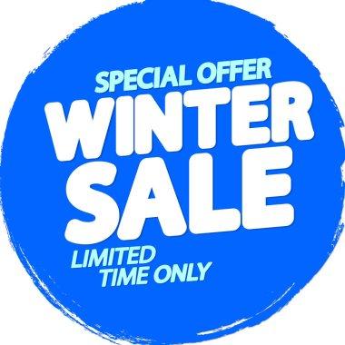 Winter Sale, poster design template, special offer, vector illustration