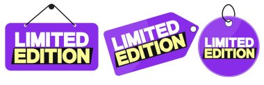 Set Limited Edition tags design template, promo banners, vector illustration
