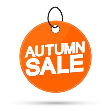 Autumn Sale, offer tag, discount banner design template, vector illustration