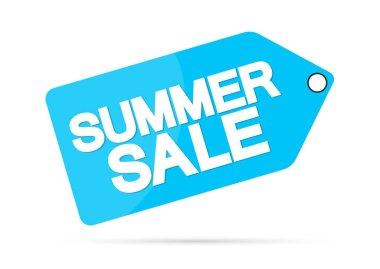 Summer Sale, offer tag, discount banner design template, vector illustration