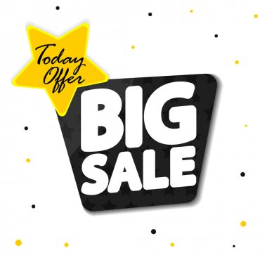 Big Sale, super promotion banner design template, discount tag, today offer, vector illustration