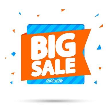 Big Sale, super promotion banner design template, discount tag, vector illustration