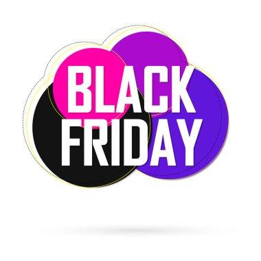 Black Friday Sale, banner design template, discount tag, vector illustration