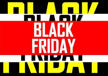 Black Friday, Sale poster design template, final offer, vector illustration