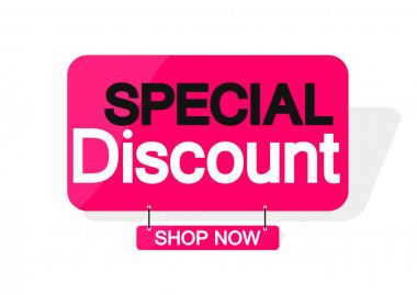Special Discount, banner design template, sale tag, vector illustration