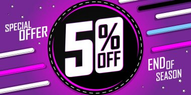Sale 50% off, poster design template, discount banner, special offer, end of season, vector illustration