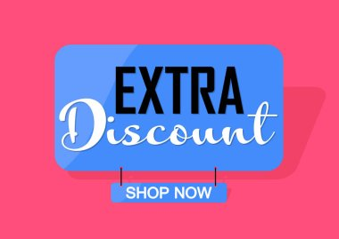 Extra Discount, banner design template, sale tag, vector illustration