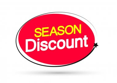 Season Discount, banner design template, sale tag, vector illustration