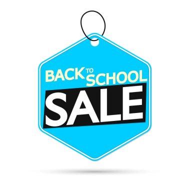 Back to School Sale, offer tag, discount banner design template, vector illustration