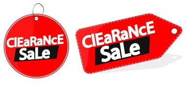 Clearance Sale tag design template, discount banner, vector illustration