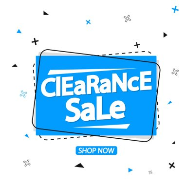 Clearance Sale, banner design template, discount tag, promotion app icon, vector illustration
