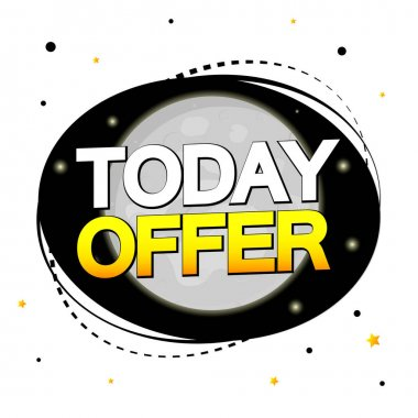 Today Offer, sale banner design template, discount tag, vector illustration