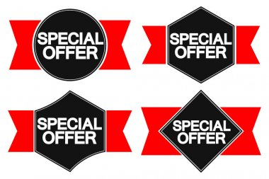Special Offers, sale banners design template, discount tags, app icons, vector illustration