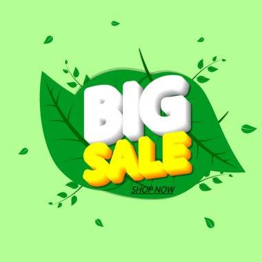 Big Sale, banner design template, Spring discount tag, promotion app icon, vector illustration