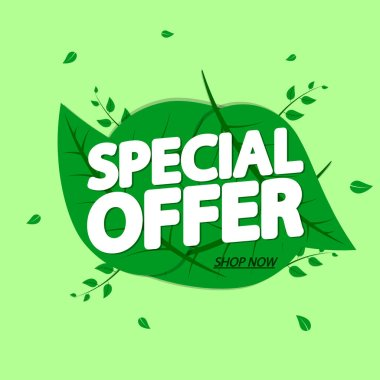 Special Offer, sale banner design template, Spring discount tag, app icon, vector illustration
