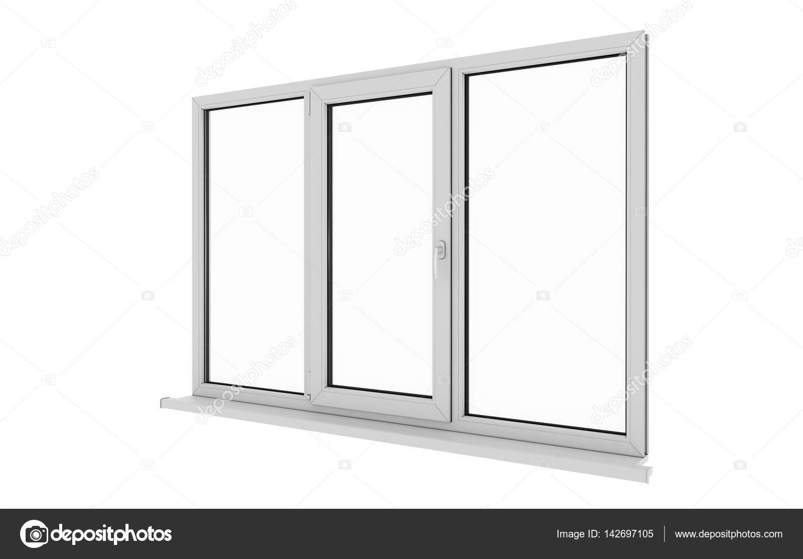 Fenster. Isolierte Fenster. Aluminium-Fenster. Weiße Fenster. PVC ...