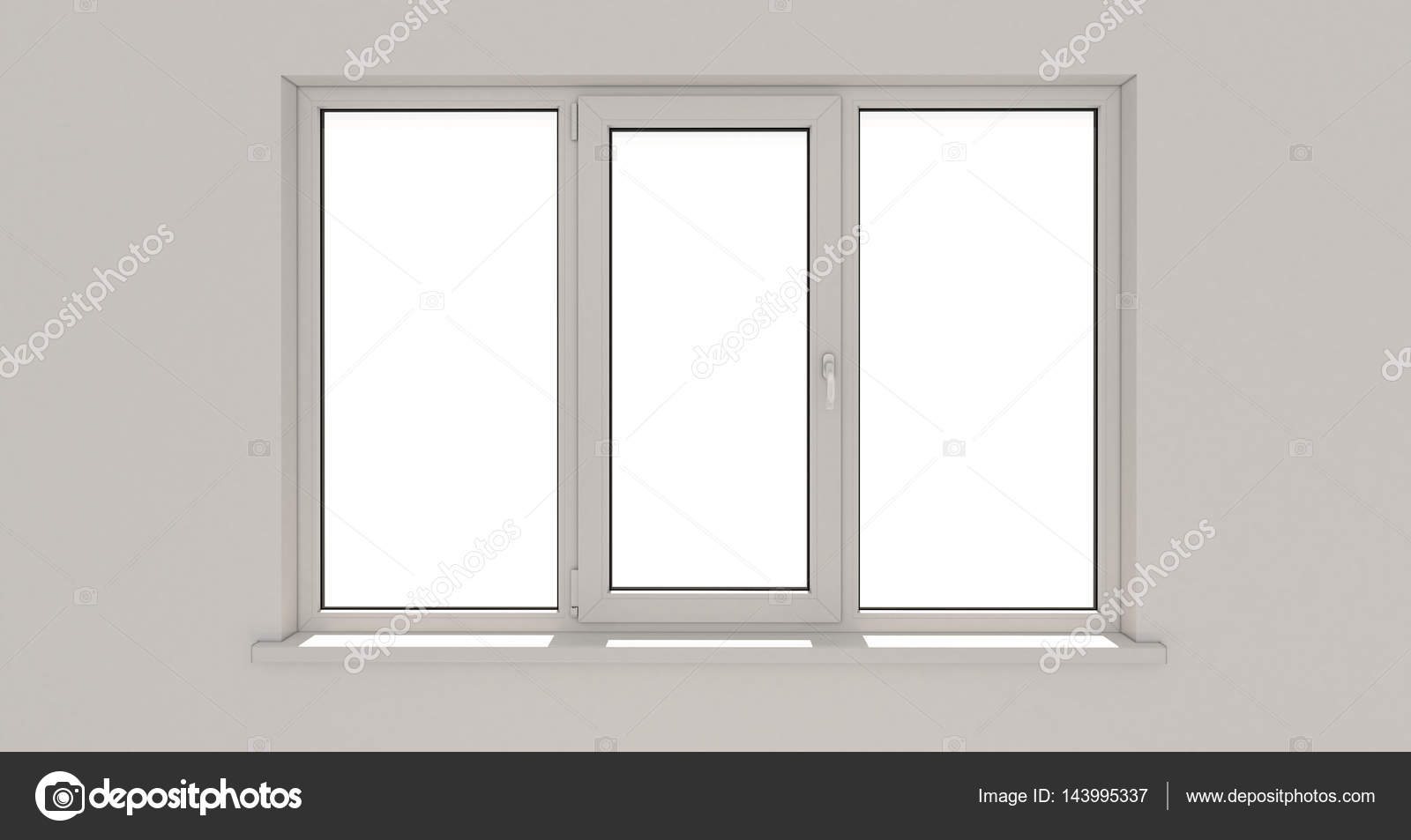 Fenster. Wand. Aluminium-Fenster. Weiße Fenster. PVC-Fenster ...