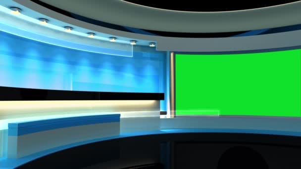 Studia. Ideální pozadí pro všechny zelené obrazovky nebo chroma klíče video produkci. Smyčka.