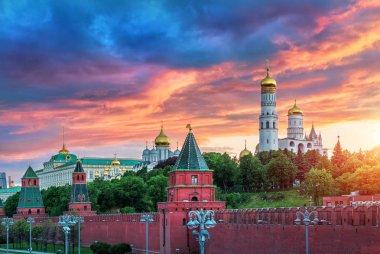 Fiery evening of the Moscow Kremlin