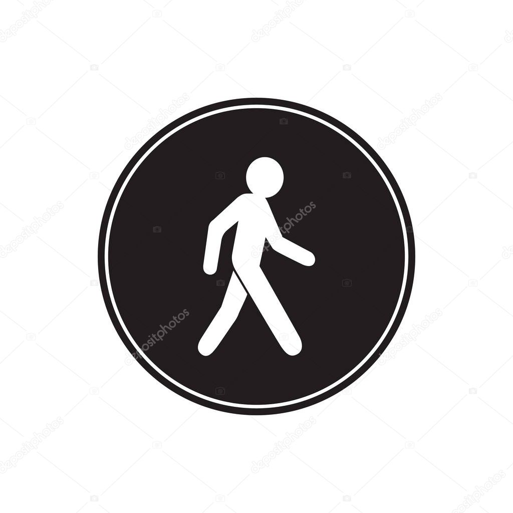 a person walking or walk sign flat vector icon for apps and websites premium vector in adobe illustrator ai ai format encapsulated postscript eps eps format flat vector icon for apps and websites