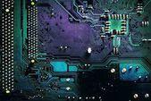 sötét pcb fórumon integrált áramkör pc alkatrészek alaplap chip processzor textúra háttér