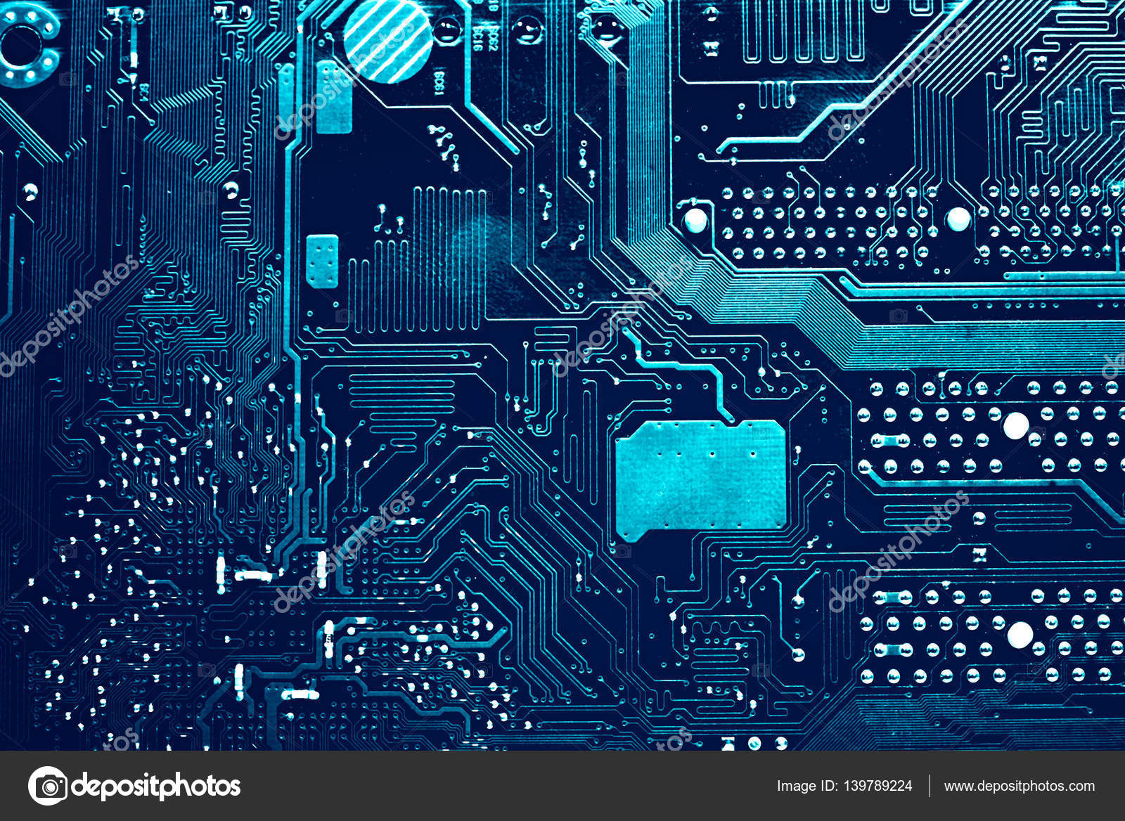 Electronic Computer Hardware Technology Motherboard Digital Chip Tech Science Background Integrated Communication Processor