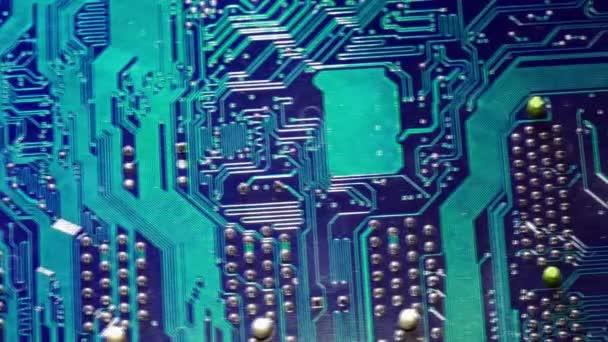 Nyomtatott áramkör. Elektronikus számítógép vasárú technológia. Alaplap digitális chip. Tech tudományos háttérrel. Integrált kommunikációs processzor. Mérnöki összetevőt. Dolly mozgást.