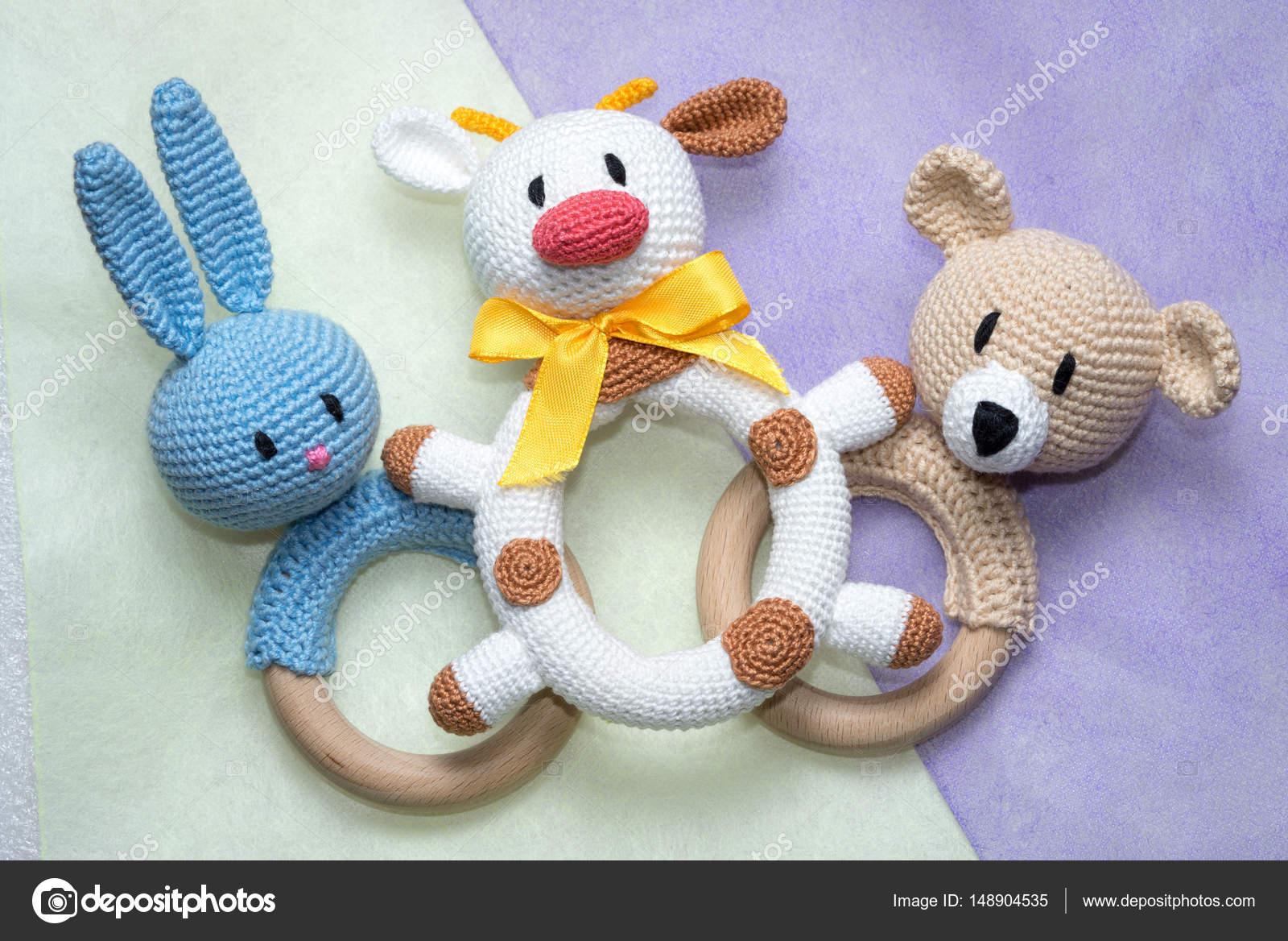 amigurumi caseros juguetes para los niños — Foto de stock © Elf+11 ...