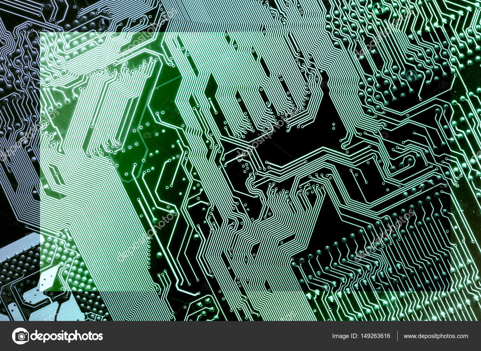 Platine Rahmen. Elektronische Computer-Hardware-Technologie ...
