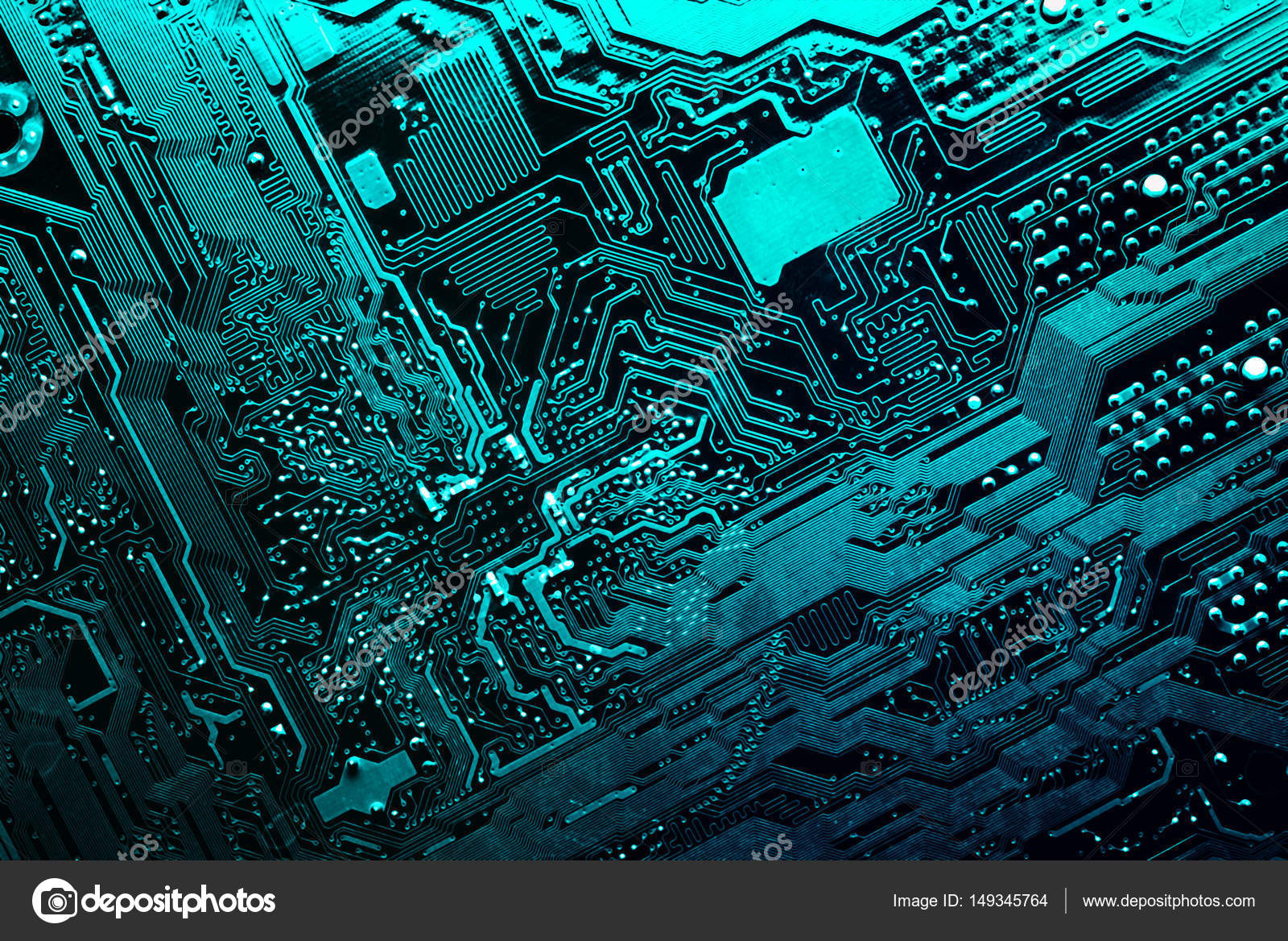 Circuit Board Electronic Computer Hardware Technology Motherboard Green Background Chip Texture Digital Tech Science Integrated Communication Processor