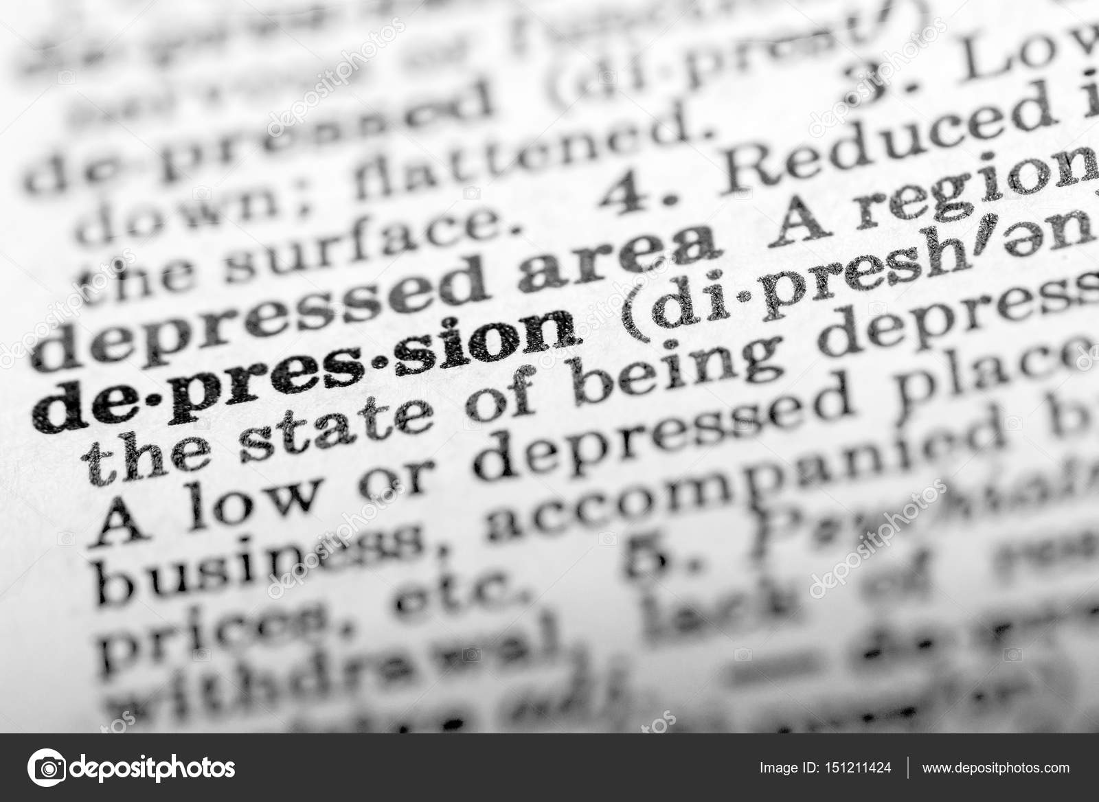 definition of word depression in dictionary — stock photo © elf+11