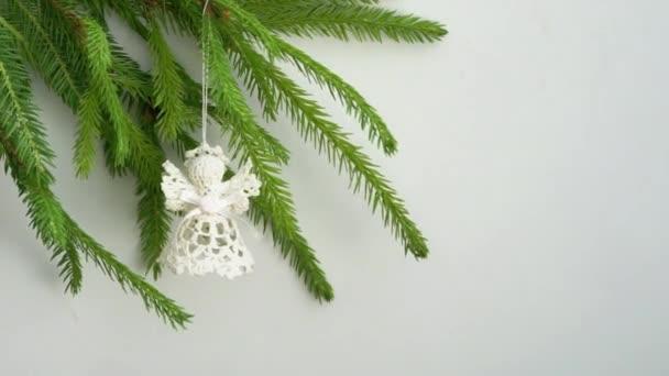 Háčkované Vánoční anděl na vánoční stromeček