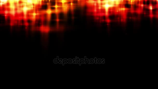 Abstract Red And Yellow Glittering Stars At The Top Part Of The Black Background For Overlay Hd 1080 Loop
