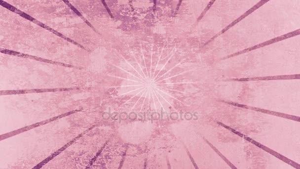 Vorticoso dellannata dello sprazzo di sole del animazione sfondo radiale su una priorità bassa strutturata del cemento
