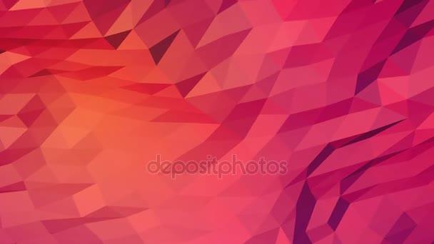 Růžová oranžová a červená kreativní zářící geometrický trojúhelníkový pozadí animace ve stylu Origami s přechodem jako vzor pro vaše podnikání design.