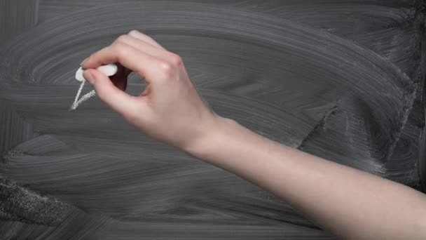 Hand drawing five stars rating on chalkboard animation