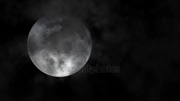 Super Moon Attractive Animation Night Sky Cloudy Bright Full Moon