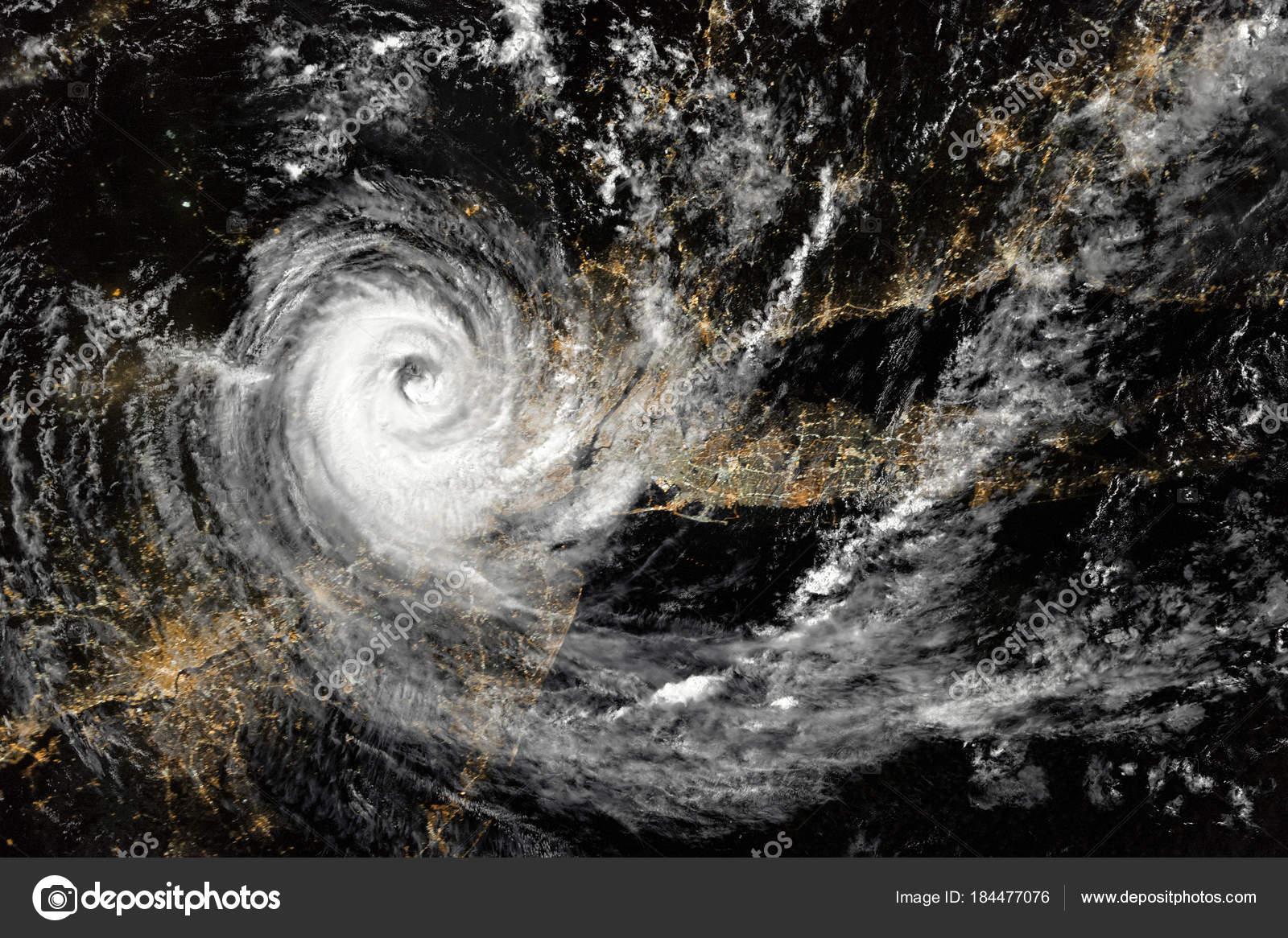 Hurrikan Über Den Nordosten Der Vereinigten Staaten Der Nacht New ...