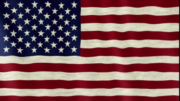 Closeup of the american USA flag flapping in the wind, stars and stripes, united states of america